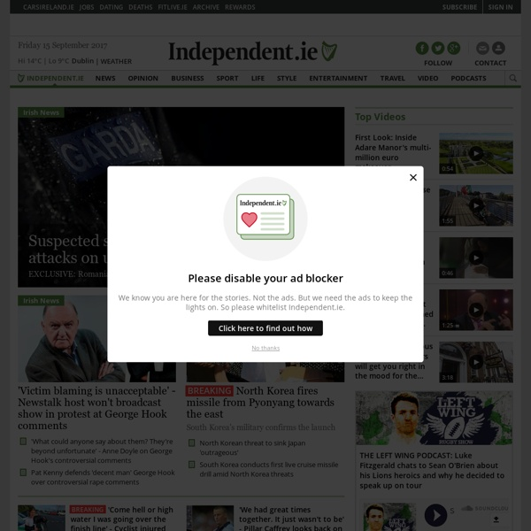 Irish Independent News in Ireland & Worldwide