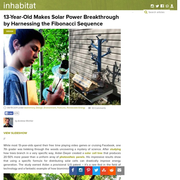 13-Year-Old Makes Solar Power Breakthrough by Harnessing the Fibonacci Sequence
