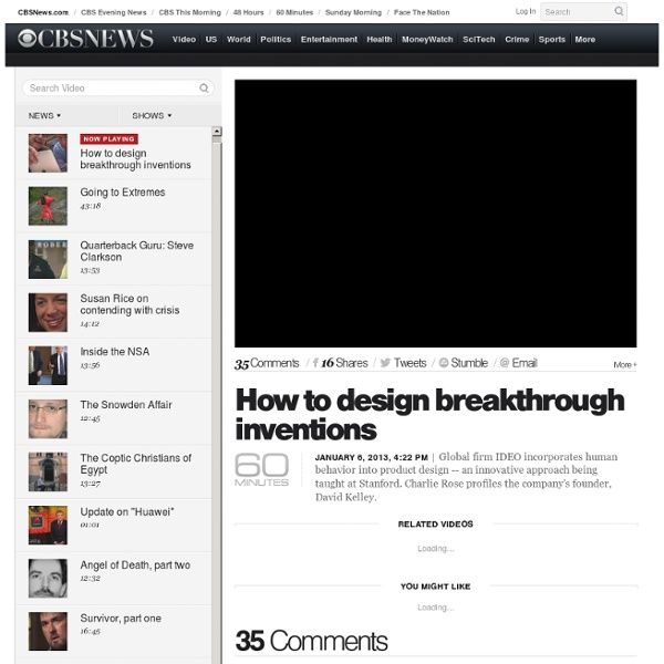 How to design breakthrough inventions - Videos