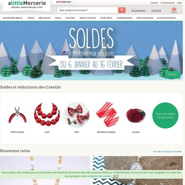 Mercerie en ligne : Breloques, apprêts, perles, couture, scrapbooking