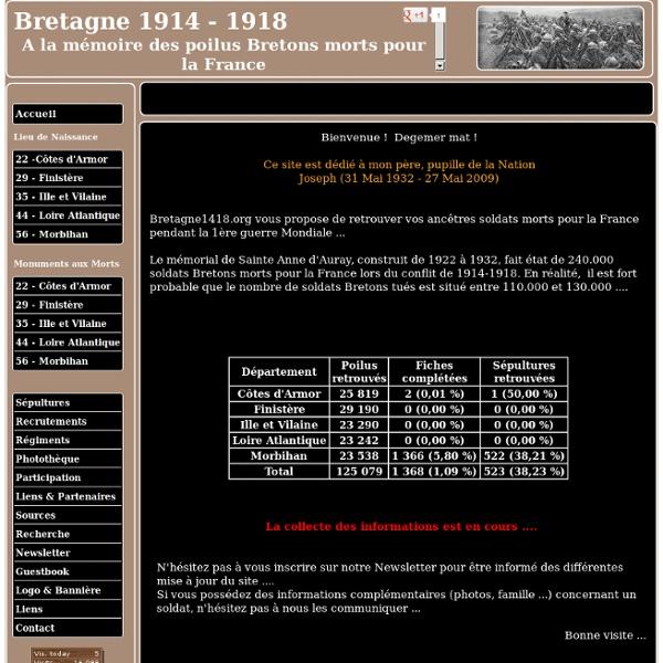 Bretagne 1914 - 1918