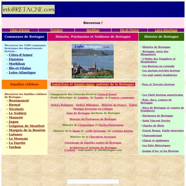 Bretagne : Histoire, Patrimoine, Noblesse
