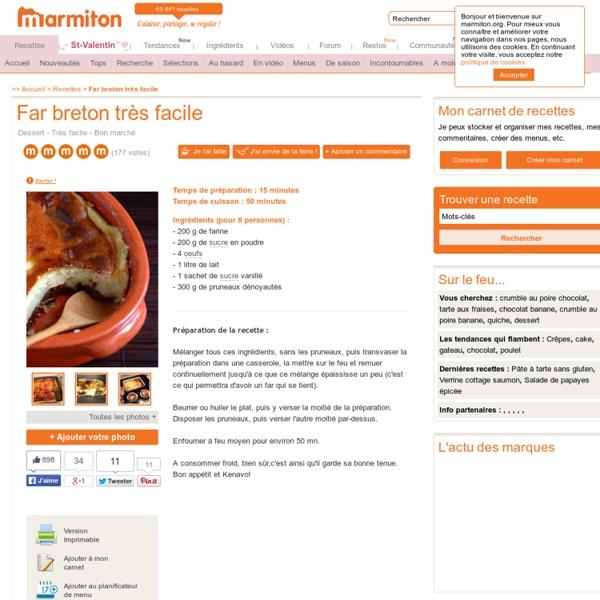 Far breton très facile : Recette de Far breton très facile