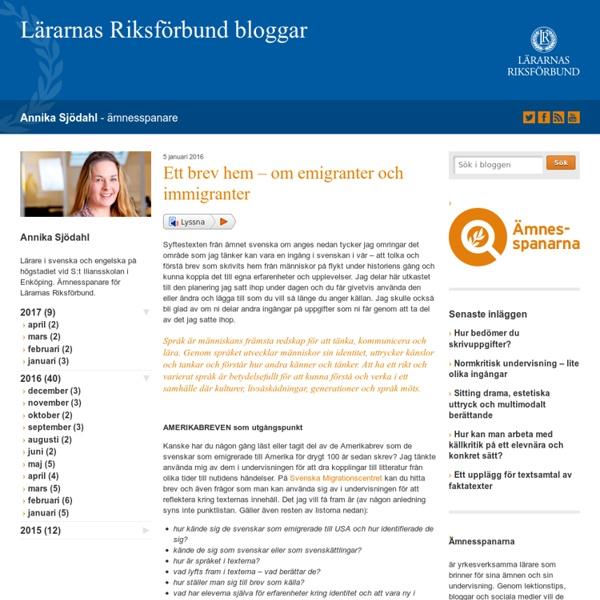 Ett brev hem - om emigranter och immigranter - Annika Sjödahl