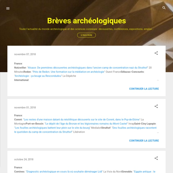 Brèves archéologiques