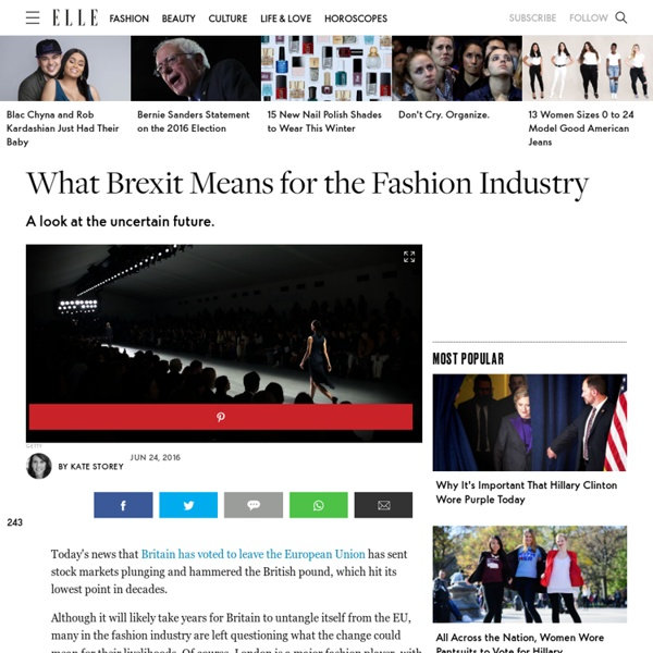 What Brexit Means for the Fashion Industry