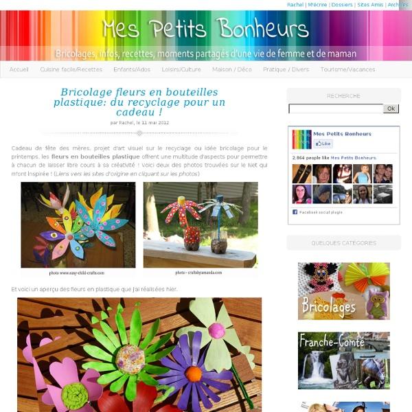 Bricolage fleurs en bouteilles plastique: du recyclage pour un cadeau !