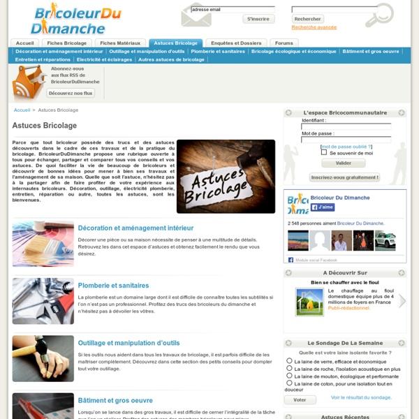 Trucs et astuces bricolage - BricoleurDuDimanche.com