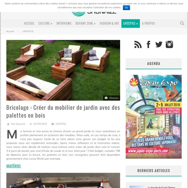 Bricolage : Creer du mobilier de jardin avec des palettes en bois