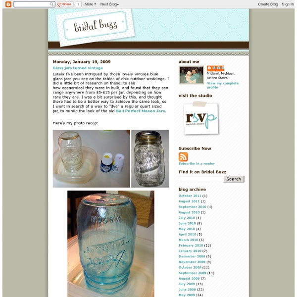 Glass jars turned vintage