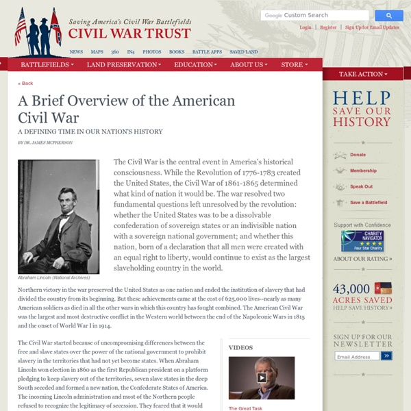 A Brief Overview of the American Civil War