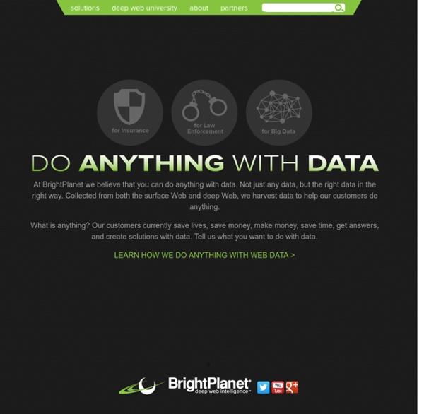 BrightPlanet: Deep Web Intelligence