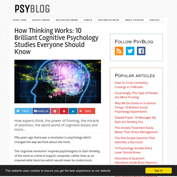 How Thinking Works: 10 Brilliant Cognitive Psychology Studies Everyone Should Know