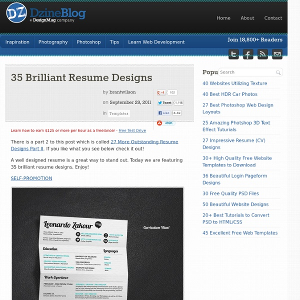 35 Brilliant Resume Designs