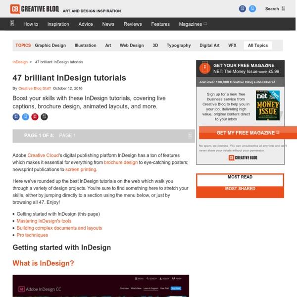 44 brilliant InDesign tutorials