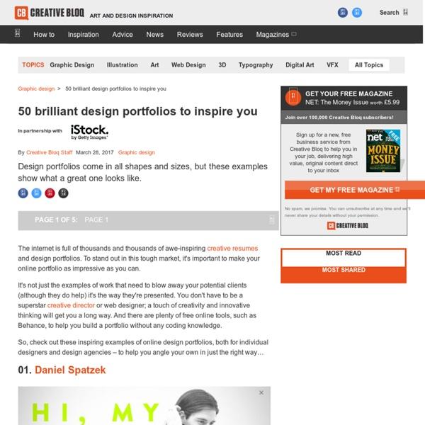 40 brilliant design portfolios to inspire you