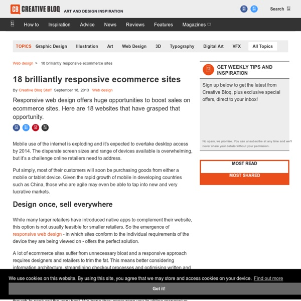 18 brilliantly responsive ecommerce sites