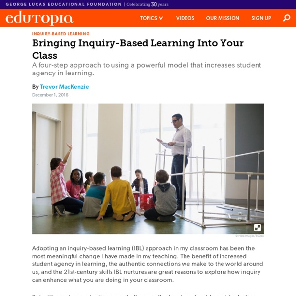 Bringing Inquiry-Based Learning Into Your Class
