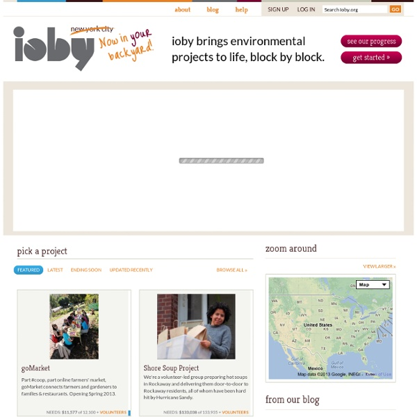 Ioby brings environmental projects to life, block by block.