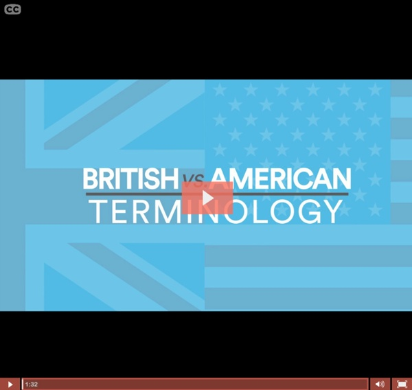 British vs American Terminology - UK
