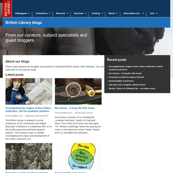 British Library Blogs