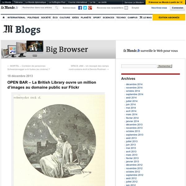 OPEN BAR – La British Library ouvre un million d'images au domaine public sur Flickr