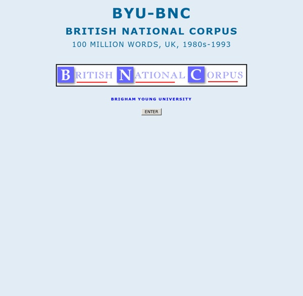 British National Corpus (BYU-BNC)
