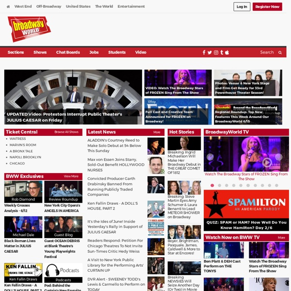 Broadway World.com - #1 Site for Broadway Shows, Theatre, Live Entertainment, Tickets & More!