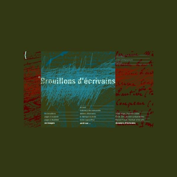 Brouillons d'écrivains : creation litteraire, manuscrits, genetique des textes...