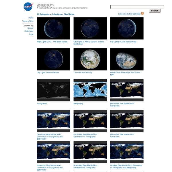 Visible Earth: Browse by Collection: Blue Marble