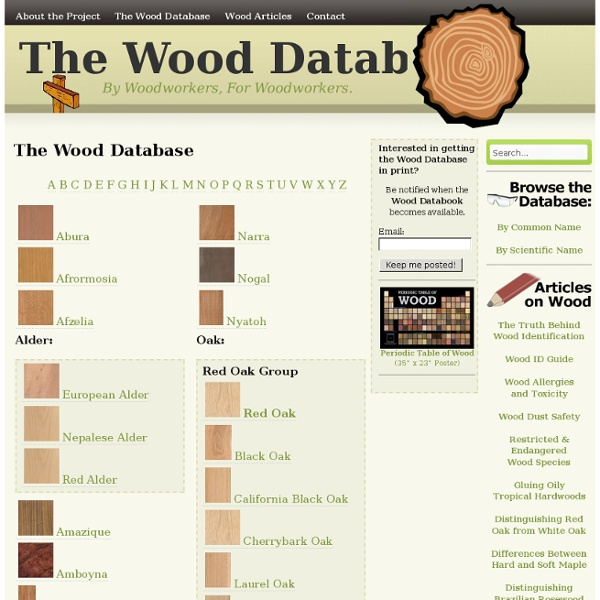 The Wood Database