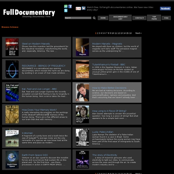 Browse Documentary Films & Videos
