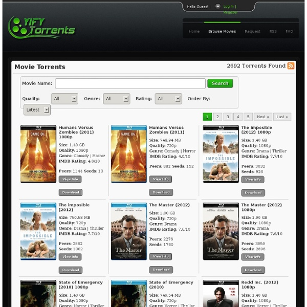 Browse Movie - YIFY Torrents