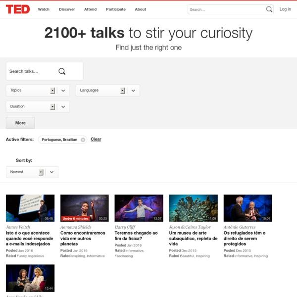 Talks - in Portuguese, Brazilian