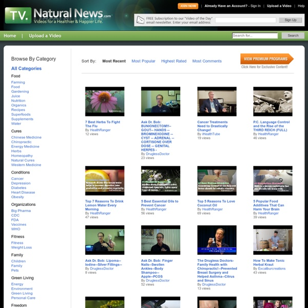 Browse Videos - Natural News TV - Nightly