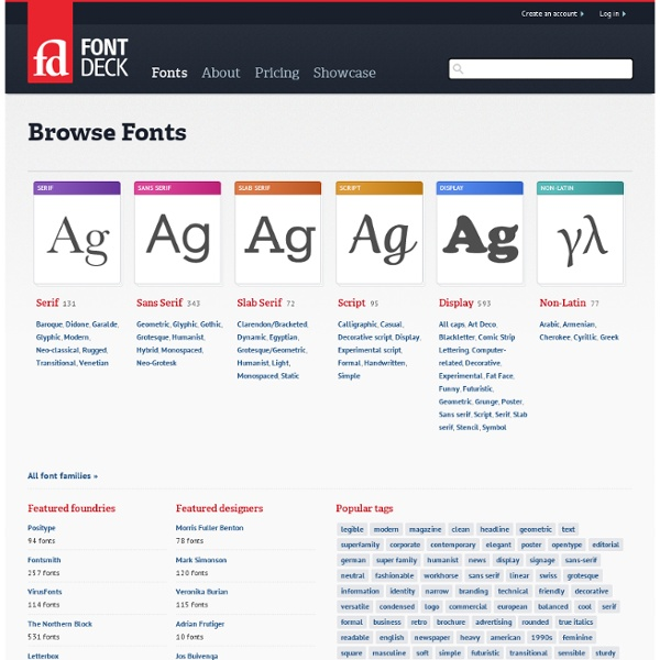 Browse web fonts