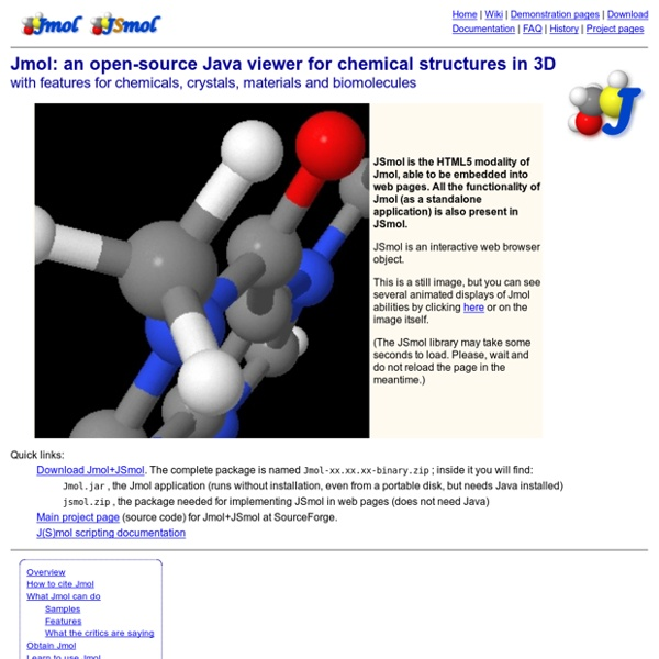 Jmol: an open-source Java viewer for chemical structures in 3D