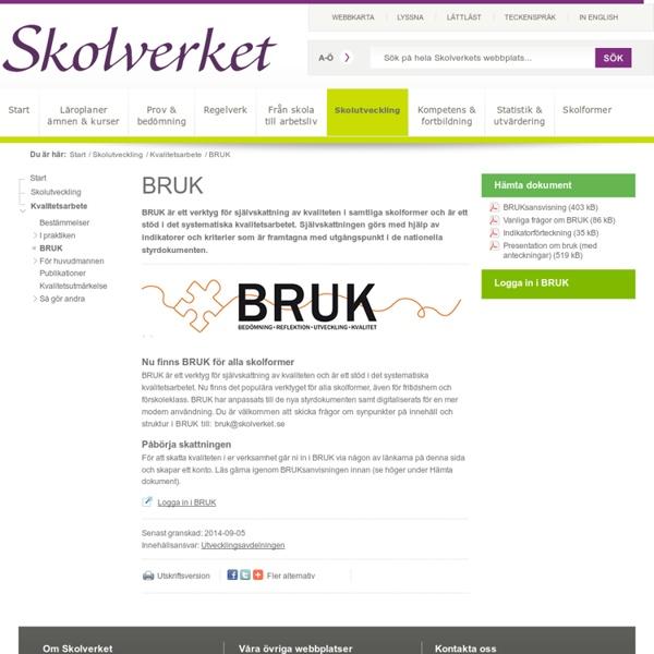 BRUK - verktyg för självskattning