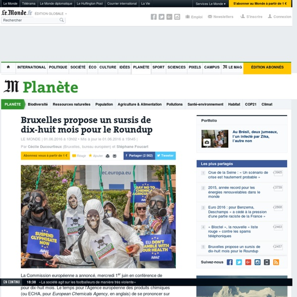 Bruxelles propose un sursis de dix-huit mois pour le Roundup
