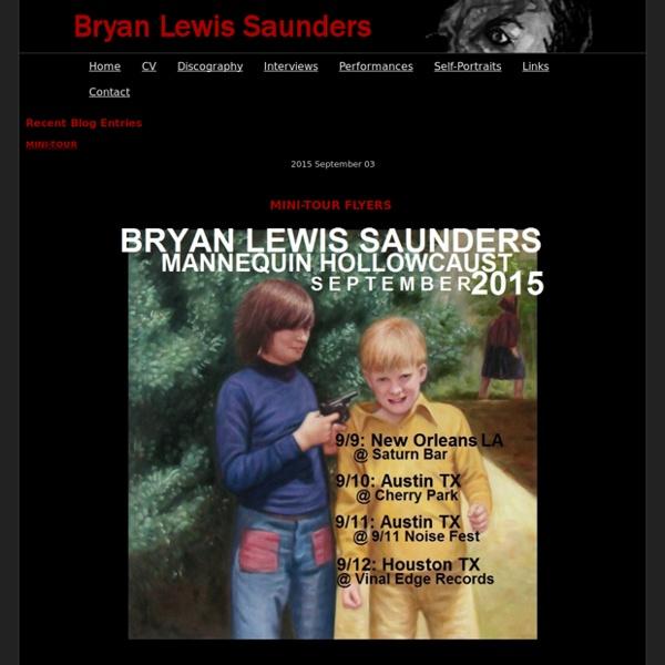 Bryan Lewis Saunders - Welcome