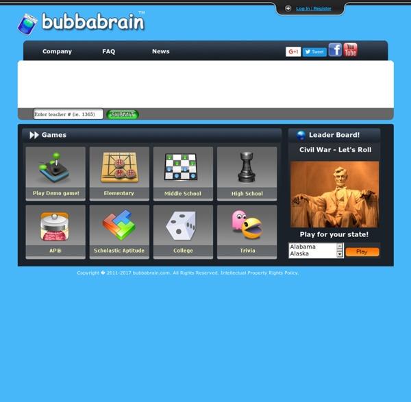 Bubbabrain, K-12+, AP/IB, SAT Interactive vocabulary practice!