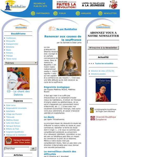 BuddhaLine le bouddhisme et ses valeurs (amour, sagesse, compassion, paix, liberté, solidarité)