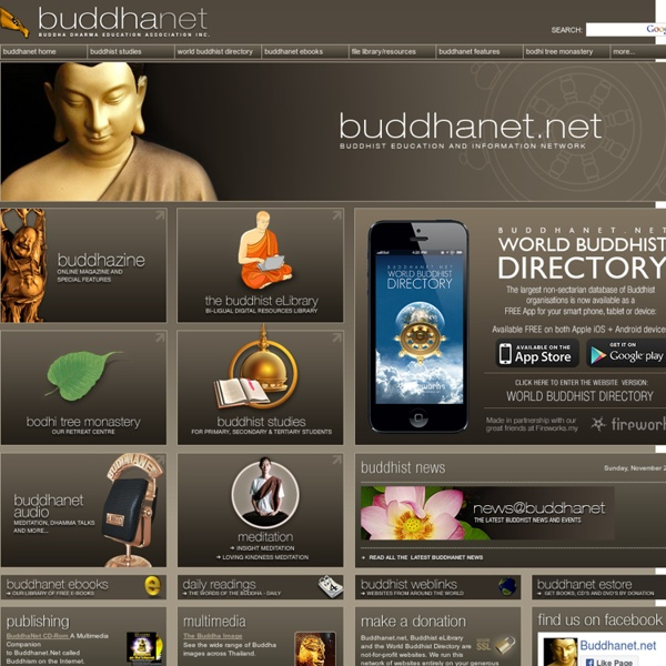 BuddhaNet - Worldwide Buddhist Information and Education Network