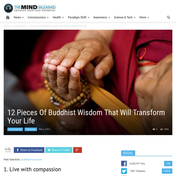 12 Pieces Of Buddhist Wisdom That Will Transform Your Life
