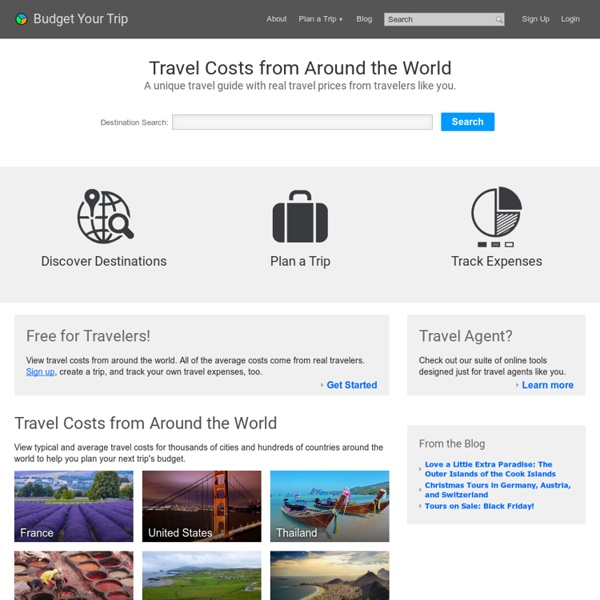 Travel Costs for a Round the World Trip or Weekend Vacation