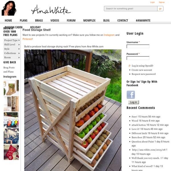Build a Food Storage Shelf