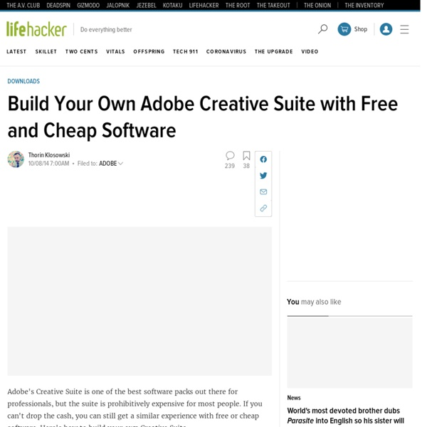 Build Your Own Adobe Creative Suite