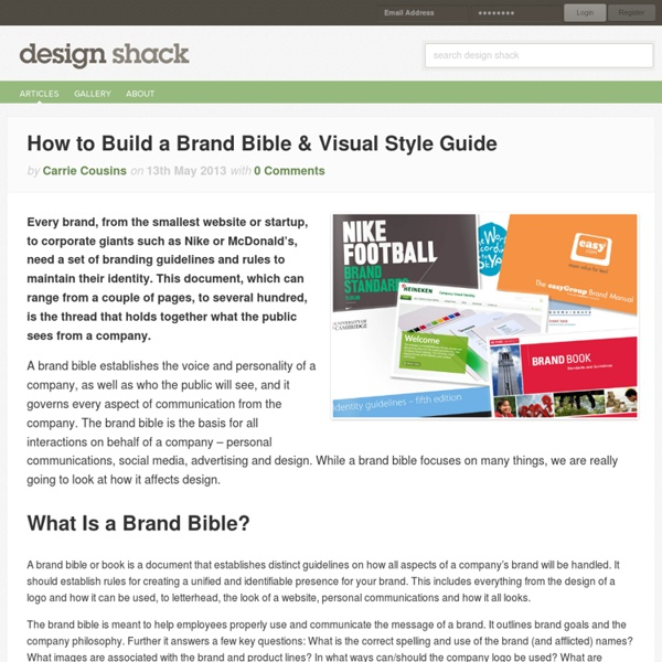 How to Build a Brand Bible & Visual Style Guide