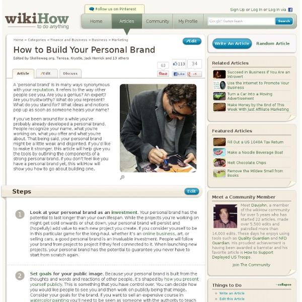 How to Build Your Personal Brand: Step-by-Step Instructions