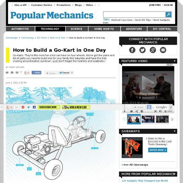 How to Build a Go-Kart in One Day - DIY Go Cart Plans
